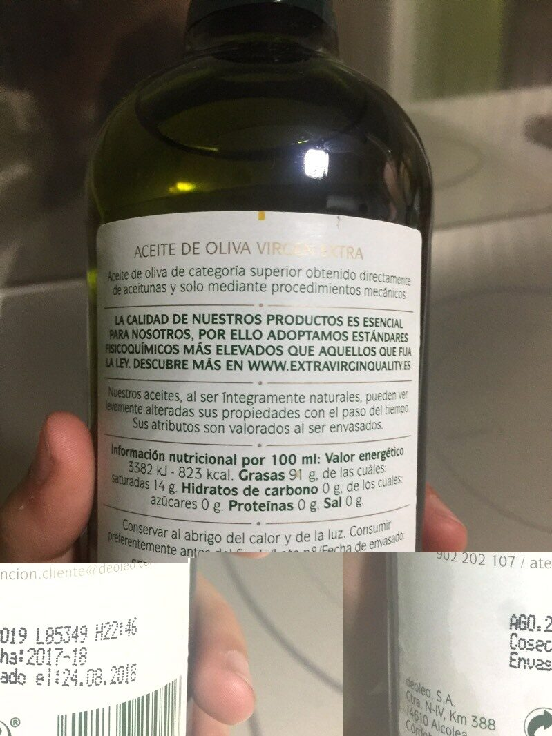 Aceite de oliva Vírgen Extra - Ingredients - es