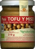 Paté vegetal de tofu y miso - Produit - es