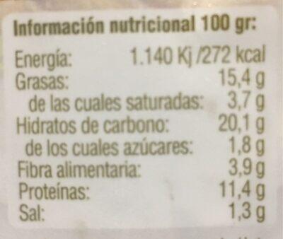 Vegeburguer de seitan y queso - Informació nutricional