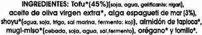 Paté vegetal de tofu y algas - Ingrédients - es