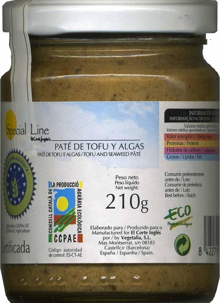 Paté vegetal  de tofu y algas - Produit - es