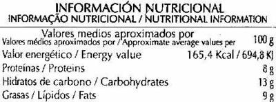 Paté vegetal  de tofu y algas - Informations nutritionnelles - es