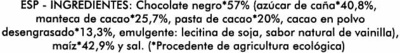 Tortitas de maíz con chocolate negro - Ingredients