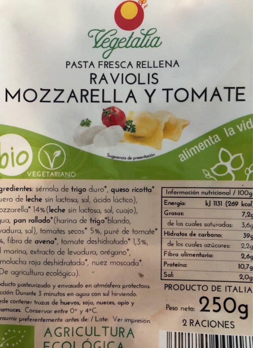 Raviolis Mozarella y Tomate - Product