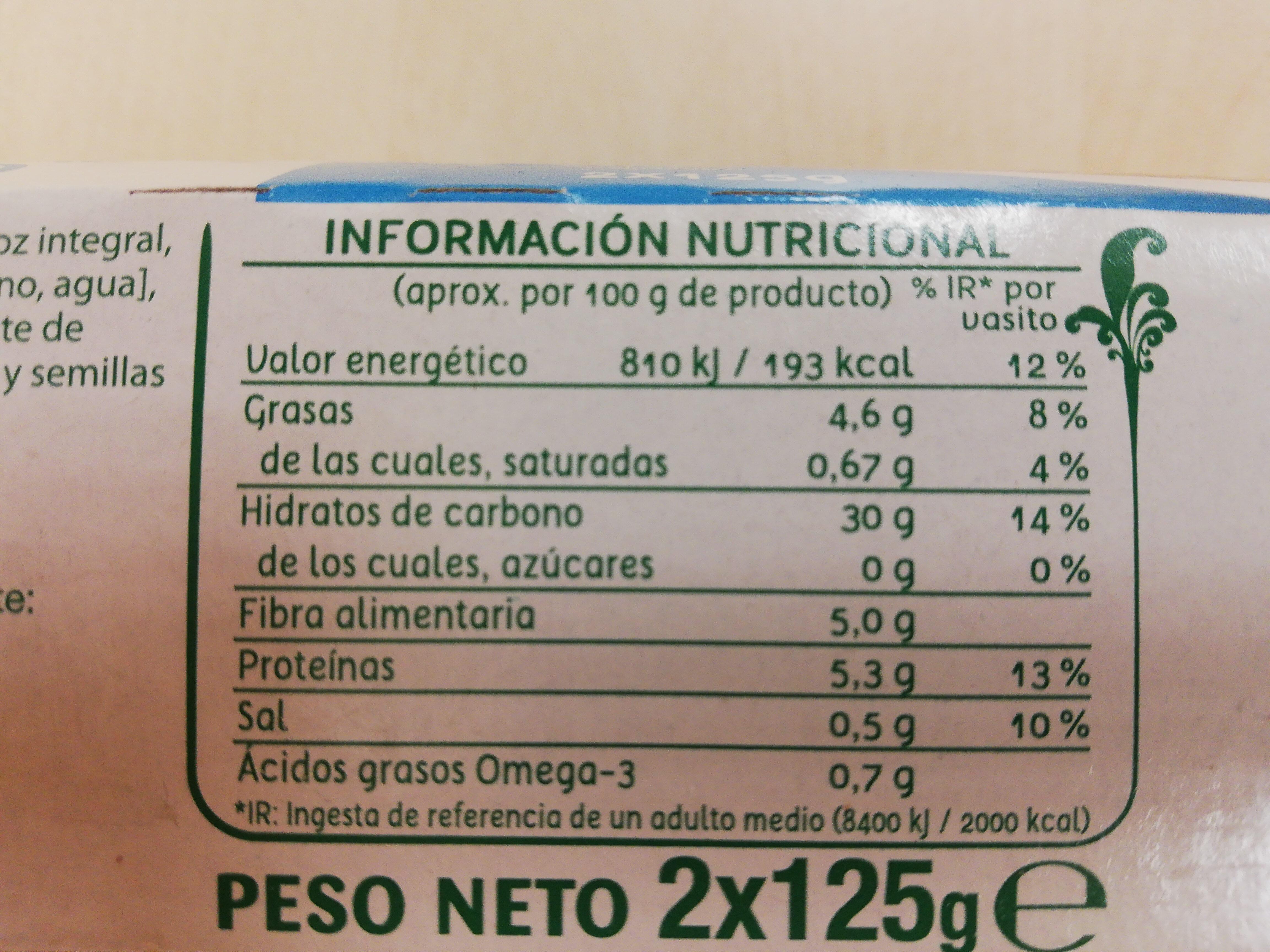 Multigrano chía y lino - Informations nutritionnelles - es