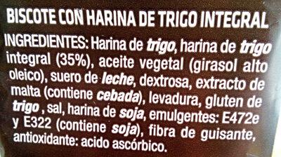 Biscote tosta - Ingredientes - es