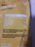 Sopa fideos con pollo - Nutrition facts