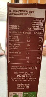 Muesli con chocolate - Voedigswaarden