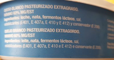 Queso Blanco - Ingrediënten - fr