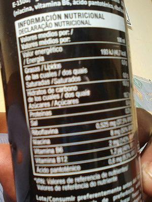 energética25cl - Ingredientes