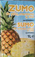 Zumo de piña, manzana y uva - Product - es