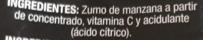 Jus de pomme (sumo de maca ) - Ingredients - es