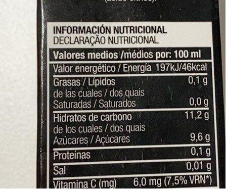 Jus de pomme (sumo de maca ) - Nutrition facts - es