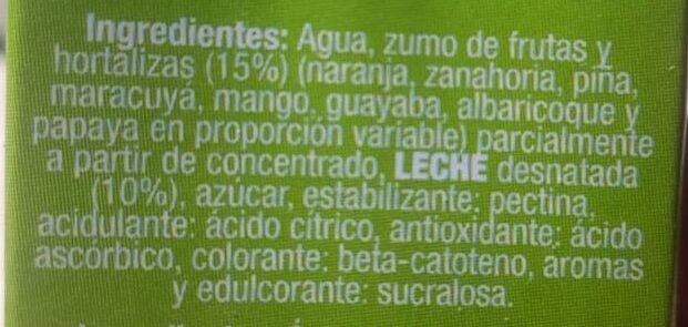 Multi frutas Covirán - Ingrediënten