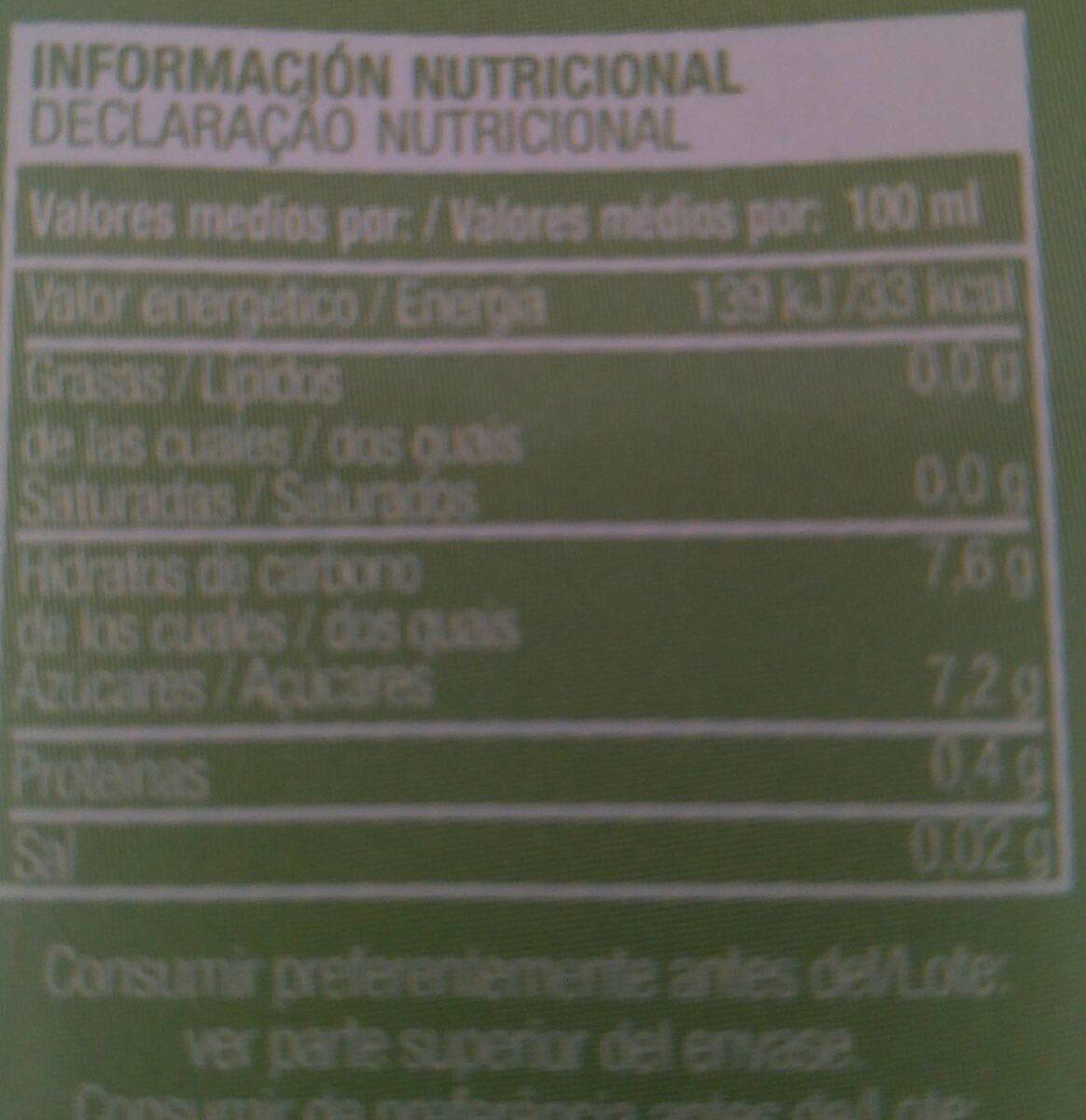Multi frutas Covirán - Voedigswaarden