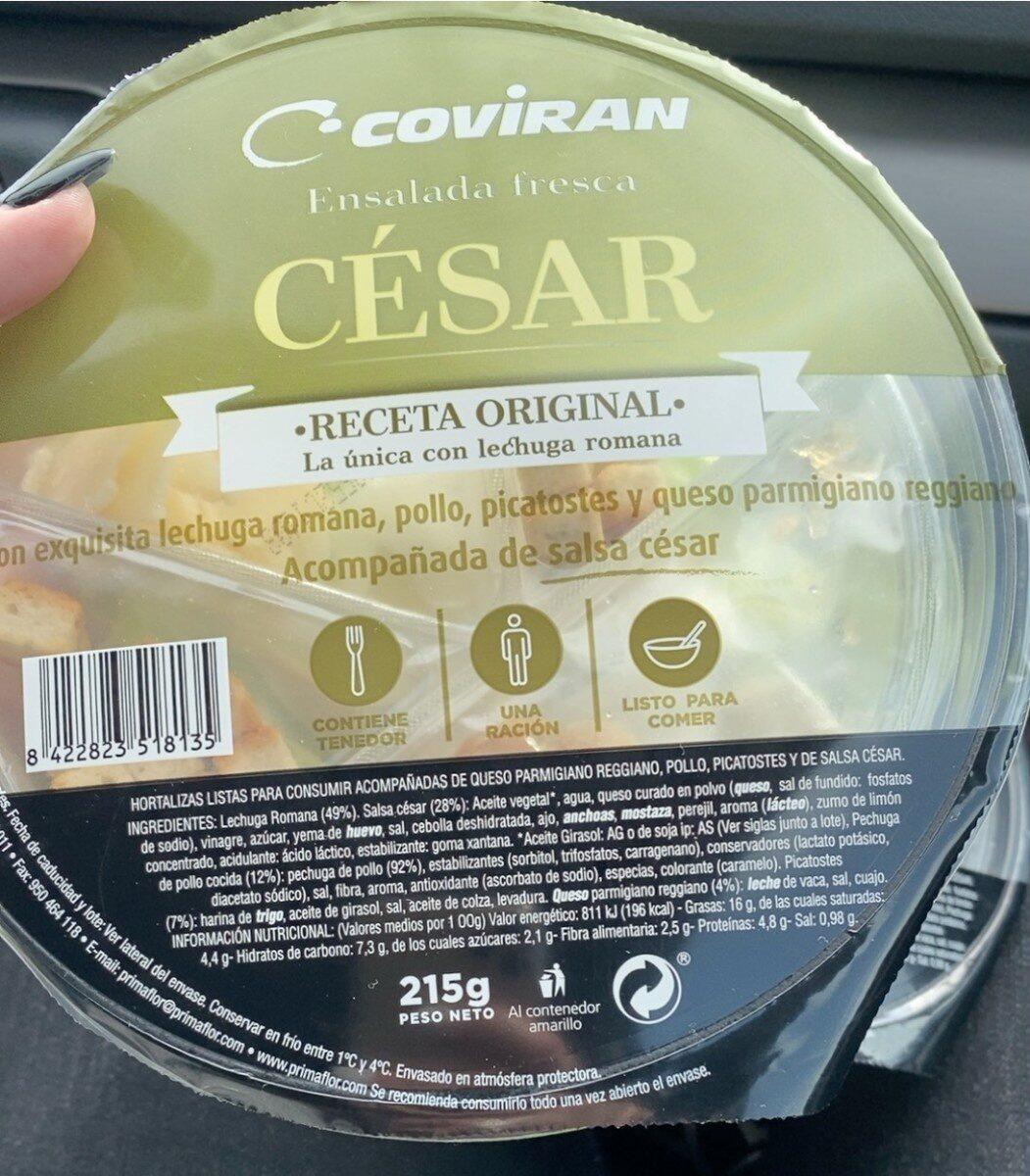 Ensalada cesar - Valori nutrizionali - es