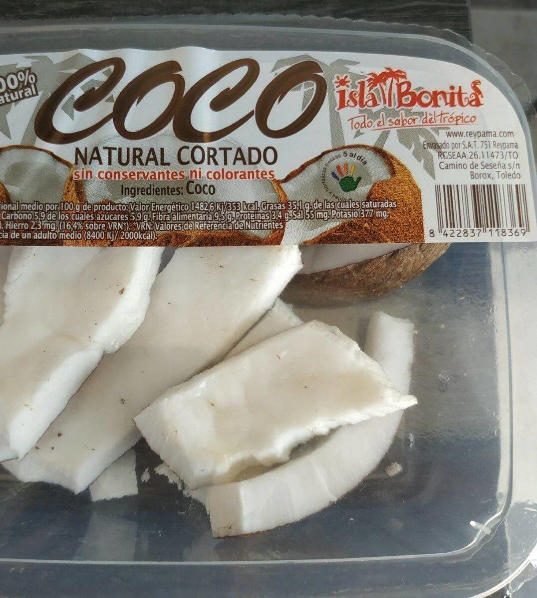 Coco pelado troceado para tomar - Produit - es