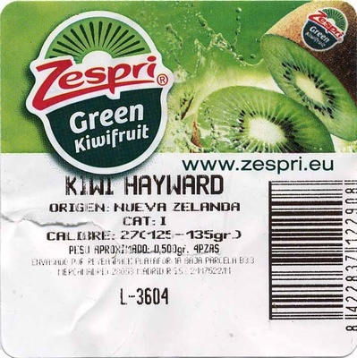 "Kiwis ""Zespri Green"" - Ingredients"