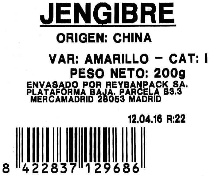 Jengibre fresco - Ingredientes