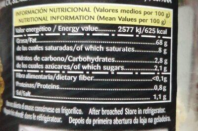 Mayonesa Gourmet - Informació nutricional - es