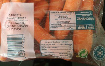 Carottes 1 kg - Produit