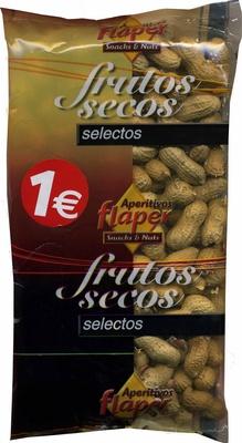 Cacahuetes con cáscara tostados sin sal