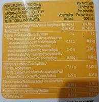 Bebida de Alpiste - Informations nutritionnelles - es