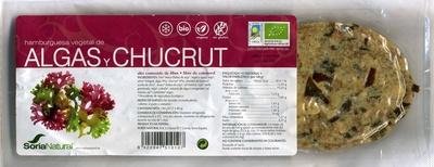 Hamburguesas vegetales Algas y chucrut - Producto
