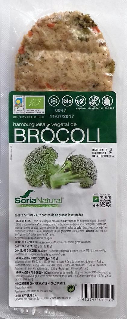 Hamburguesa vegetal de Brócoli - Producto