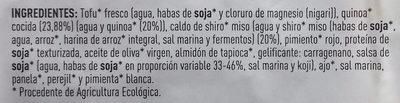 Hamburguesa vegetal de Quinoa - Ingredients
