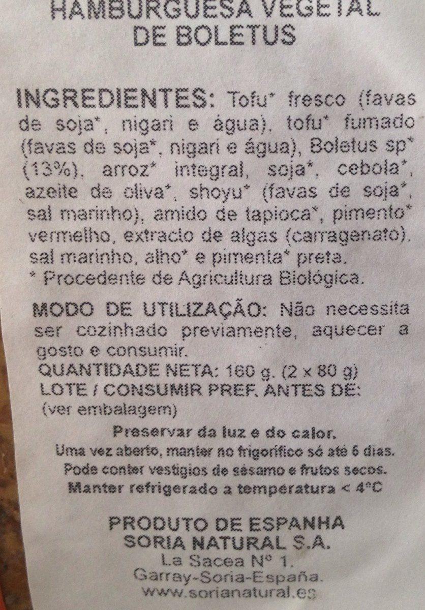 Steak végétal champignons - Ingrédients