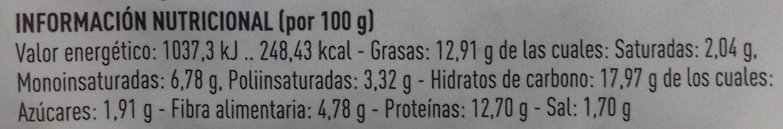 Hamburguesa vegetal a la barbacoa - Nutrition facts - es
