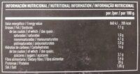 Burveg - Información nutricional - es