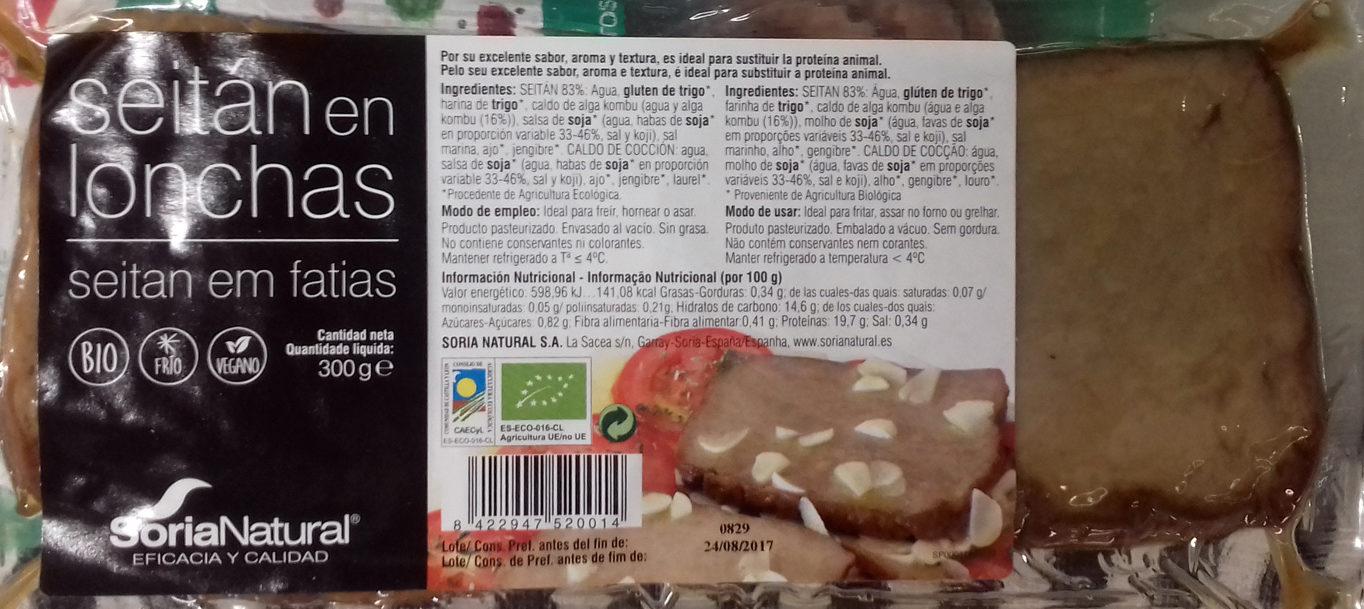 Seitán en lonchas - Product