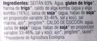 Seitán en lonchas - Ingredientes - es