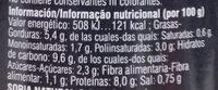 Seitán esponjoso al curry ecológico - Informació nutricional - es