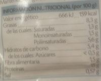 Tofu ecológico ';Soria Natural'; Natural - Información nutricional