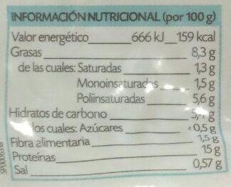 Tofu Natural - Información nutricional - es