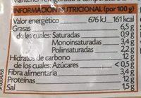 Tofu Mediterráneo - Información nutricional - es