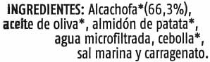 Paté vegetal de alcachofa - Ingrediënten