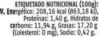 Paté vegetal de alcachofa - Voedigswaarden