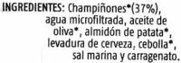 "Paté vegetal ecológico ""Soria Natural"" con champiñones - Ingredientes"