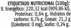Paté vegetal de aceitunas ecológico - Nutrition facts - es