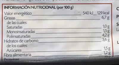 Tofu Japonés - Información nutricional