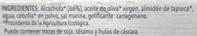 Paté vegetal de alcachofa - Ingredients
