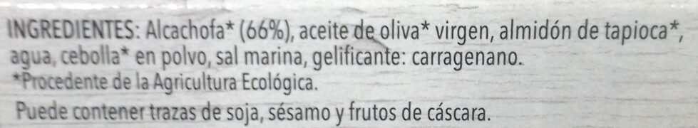 Paté vegetal de alcachofa - Ingredientes - es