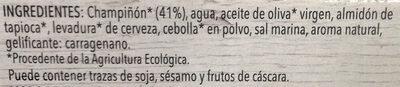 Paté vegetal de champiñón - Ingredientes - es