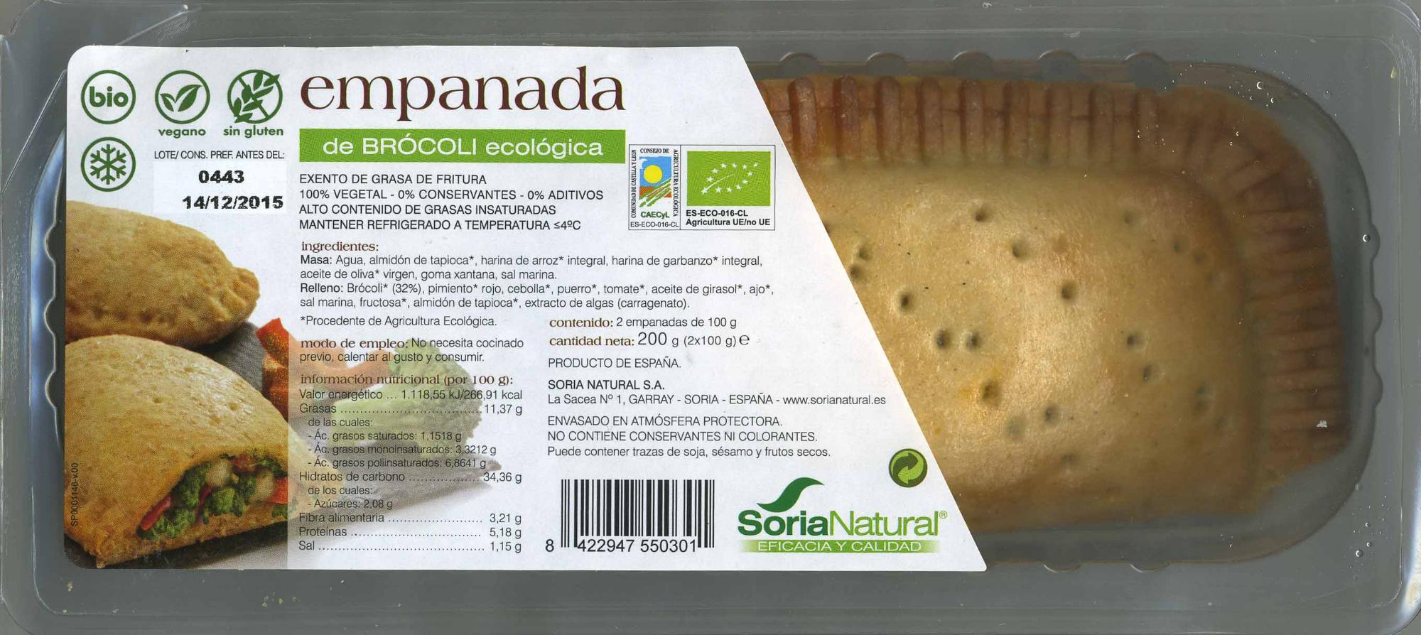 Empanada vegetal de brócoli - Producto