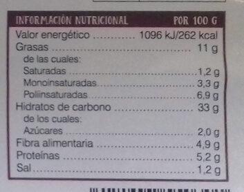 Empanada de Brocoli - Información nutricional - es