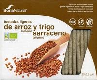 Tostadas ligeras de arroz integral y trigo sarraceno - Produit - es